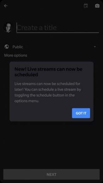 YOutube Live Streaming Schedule