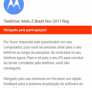 Moto Z Series Model Started Android Oreo Test