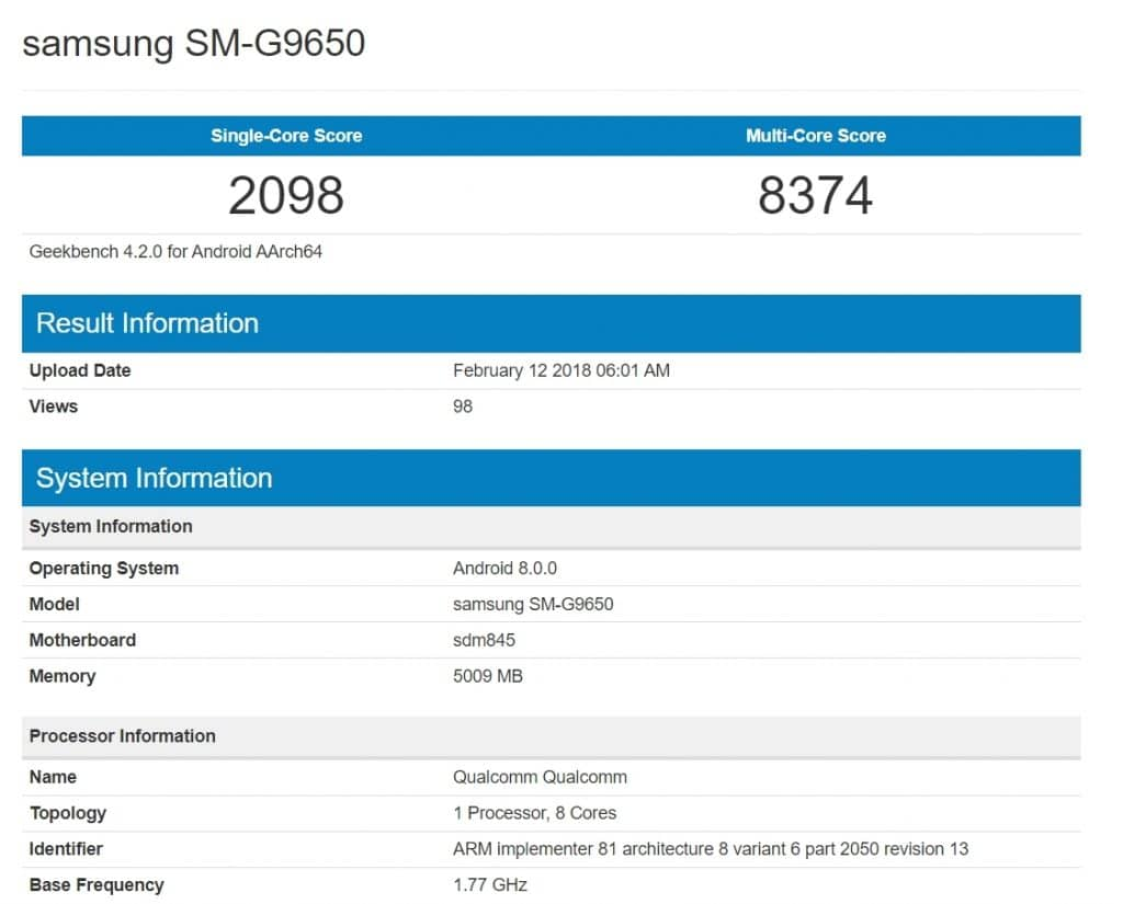 Galaxy S9+ Exynos Version Has Crushed All Previous Android Flagship Results On Geekbench
