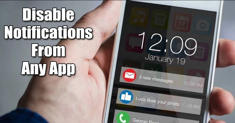 Disable Troublesome Notifications