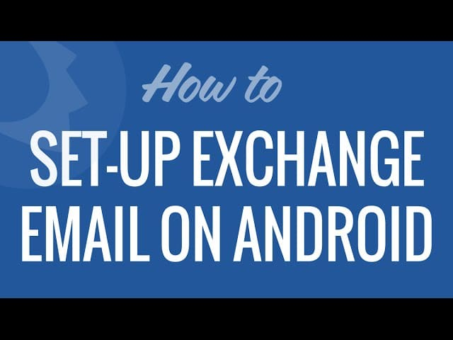Setup Exchange Mail