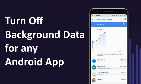Disable Background Mobile Data Usage