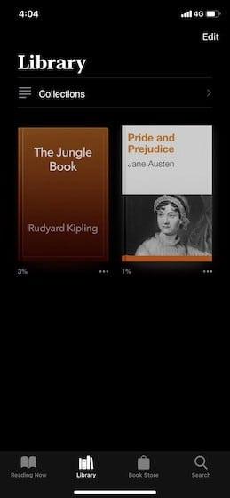 Enable Dark mode on Apple Books